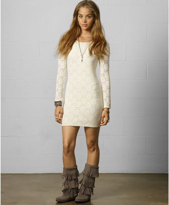 Denim & Supply Ralph Lauren Longsleeve Lace Dress - Lyst