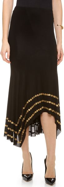 Donna Karan New York Coin Embellished Slip Skirt - Lyst