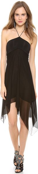 Donna Karan New York Halter Dress - Lyst