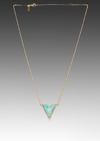Elizabeth And James Metropolis Triangle Slab Pendant in Turquoise - Lyst