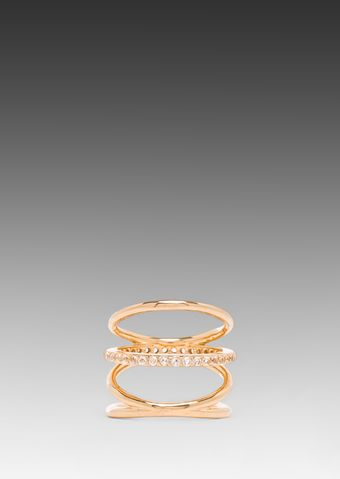 Elizabeth And James Berlin Elongated Ring in Metallic Gold - Lyst
