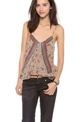 Free People Mixed Print Tank - Lyst