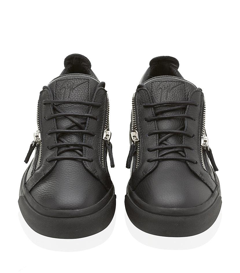 8da8c2abe0fdb Giuseppe Zanotti Double Zip Low Top Sneaker in Black for Men - Lyst