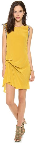 Haute Hippie Side Gather Dress - Lyst