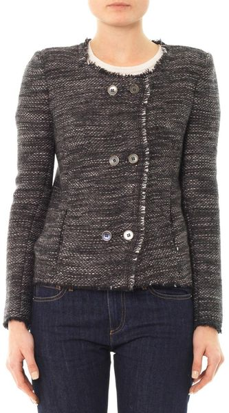 Isabel Marant Laure Tweed Jacket - Lyst