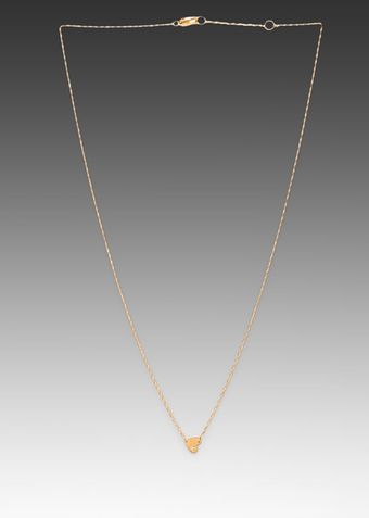 Jennifer Zeuner Xs Heart Necklace in Metallic Gold - Lyst
