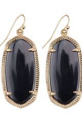 Kendra Scott Goldplated Elle Earrings Gray - Lyst