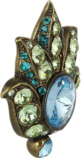 Lanvin Udaipur Goldtone Swarovski Crystal Clip Earrings In