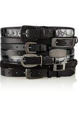 Maison Martin Margiela Layered Leather Waist Belt - Lyst