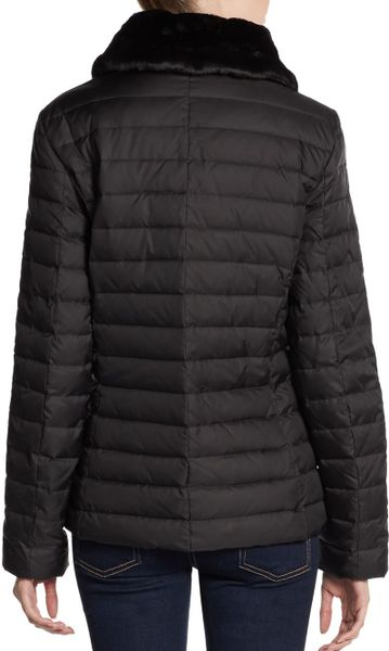 Marc New York By Andrew Marc Faux Furtrimmed Quilted