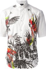 McQ by Alexander McQueen Printed Short Sleeve Shirt - Lyst