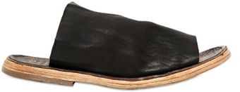 Officine Creative Washed Leather Slip On Sandals - Lyst