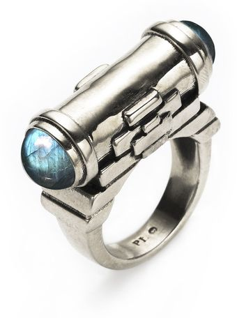 Pamela Love Tunnel Ring with Labradorite - Lyst