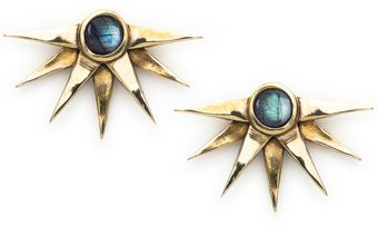 Pamela Love Sunburst Earrings in Brass - Lyst