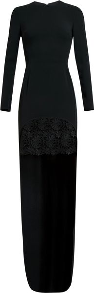 Stella McCartney Crepe and Lace Gown - Lyst
