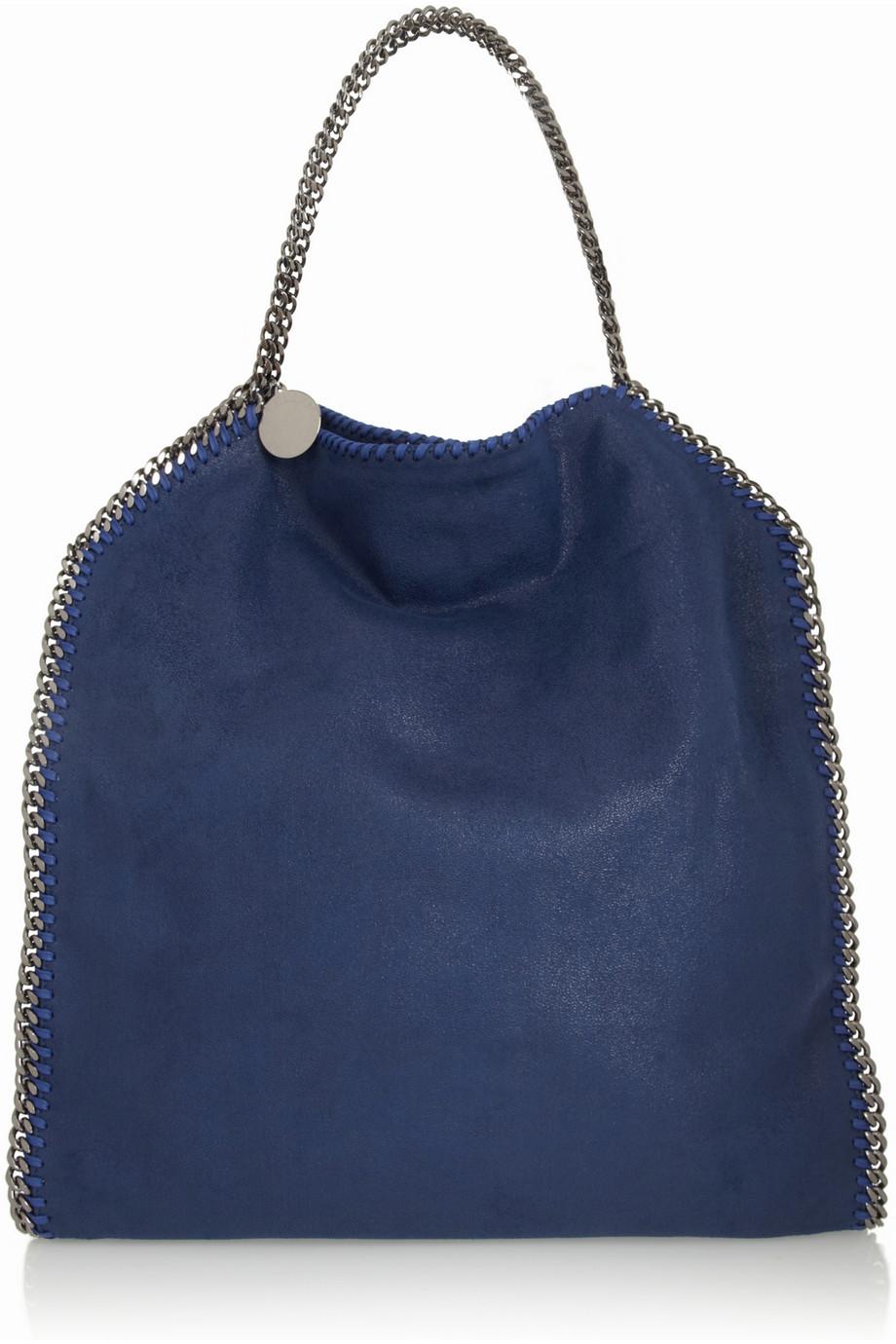 stella mccartney the falabella faux brushedleather shoulder bag in blue lyst. Black Bedroom Furniture Sets. Home Design Ideas