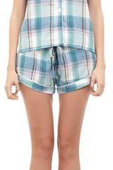 Steven Alan Piped Plaid Pajama Top - Lyst