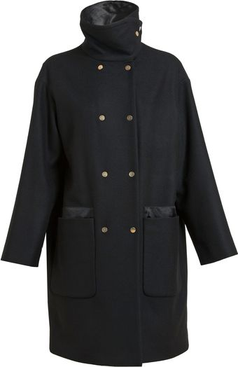 The Row Double breasted Wool-blend Coat - Lyst