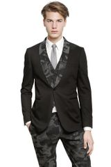Tonello Stretch Cotton Tuxedo Jacket - Lyst