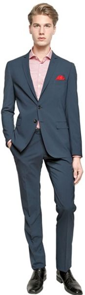Tonello Stretch Wool Blend Suit - Lyst