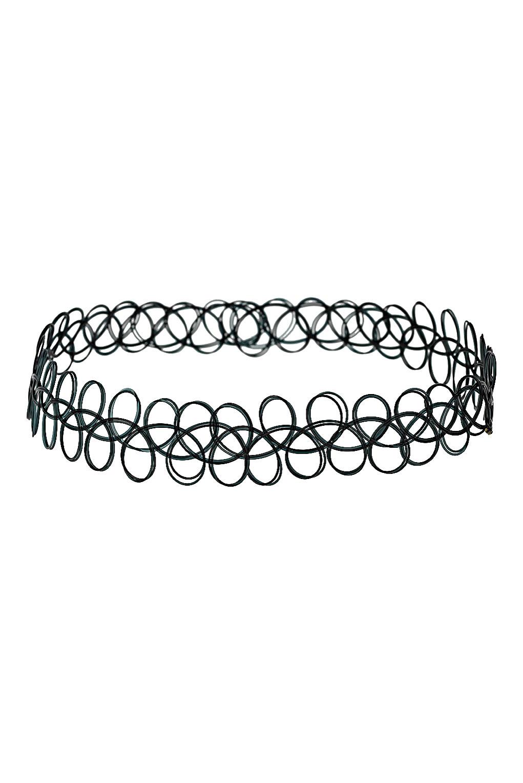 Black Wire Choker Necklace