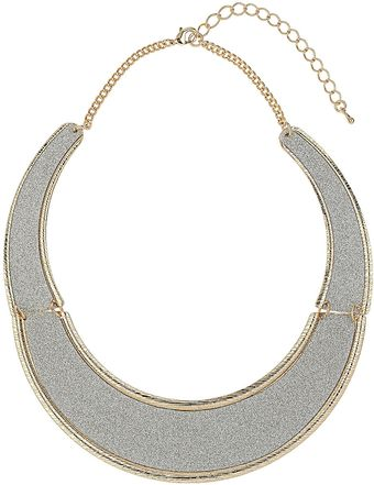 Topshop Glitter Section Collar - Lyst
