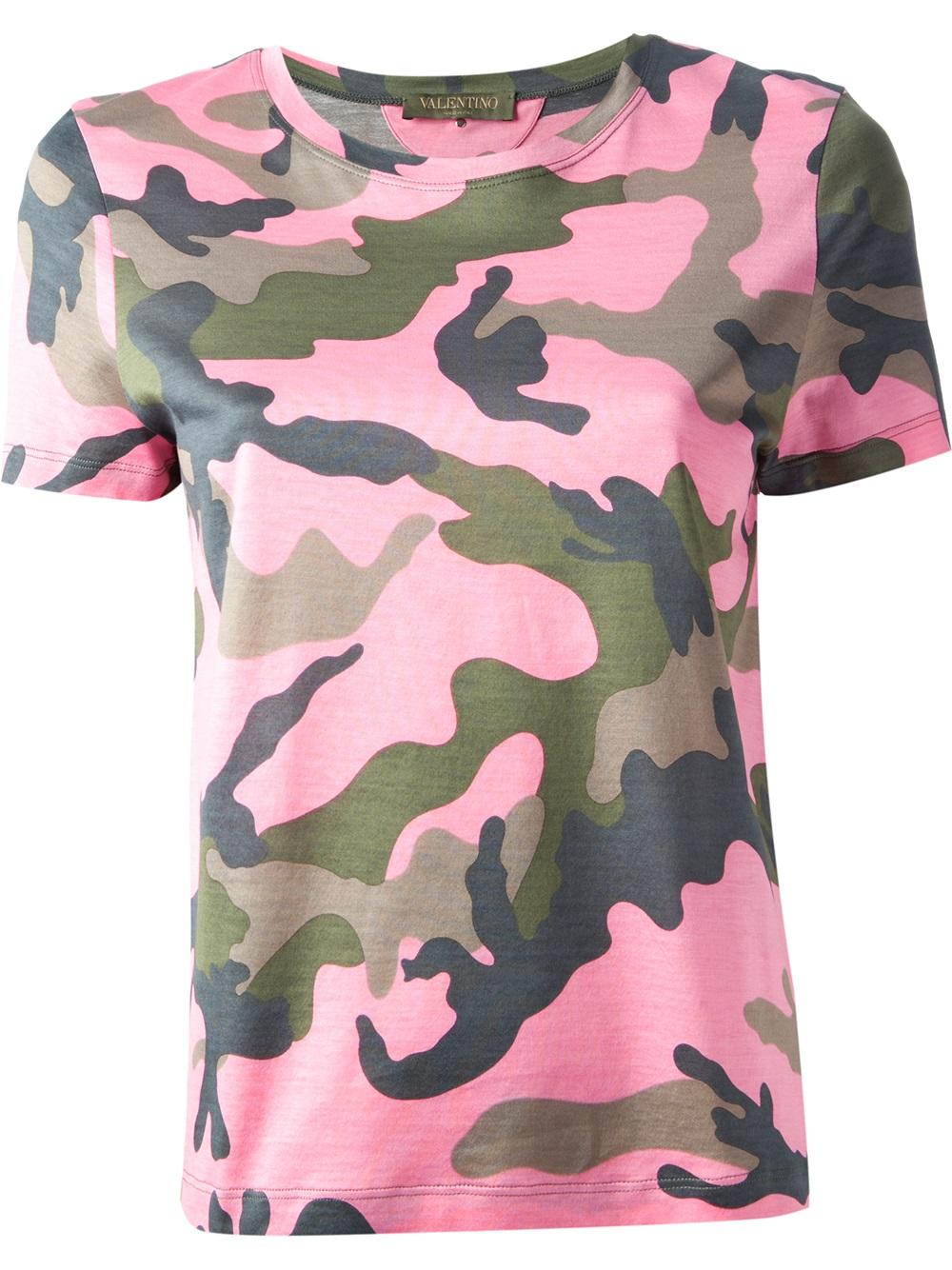 e62895fb277b Valentino pink purple camouflage print tshirt product jpg 1000x1334 Pink  camo shirts for women