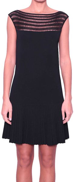 Vionnet Viscose Dress with Plissè Skirt - Lyst