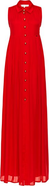 Alexander Terekhov Sleeveless Red Silk Caftan - Lyst