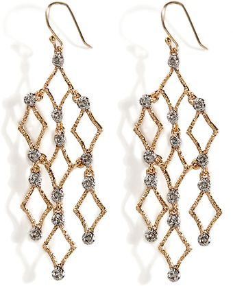 Alexis Bittar Crystal Studs Chandelier Earrings - Lyst