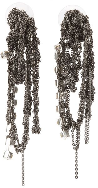 Arielle De Pinto Crochet Drop Earrings - Lyst