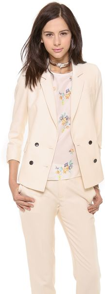 Band Of Outsiders Shrunken Double Breasted Blazer - Lyst