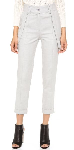 Band Of Outsiders High Waist Pants with Suspenders - Lyst
