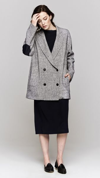 Band Of Outsiders Drop Shoulder Coat - Lyst