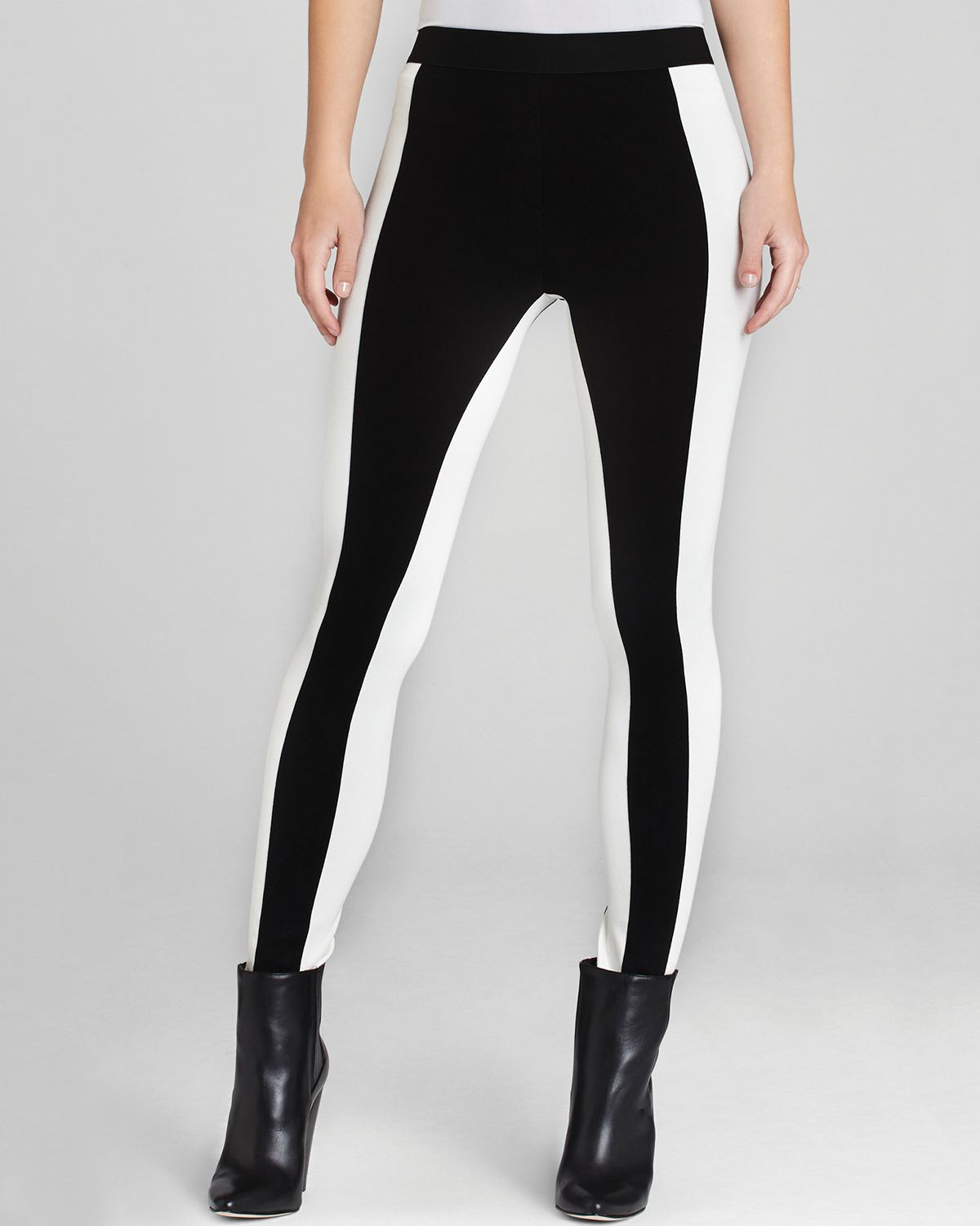 Bcbgmaxazria Leggings - Sasha Color Block in Black | Lyst