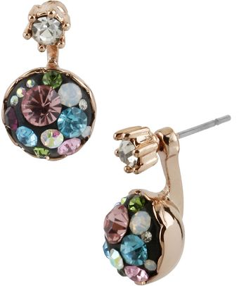 Betsey Johnson Crystallized Orbital Drop Earrings - Lyst