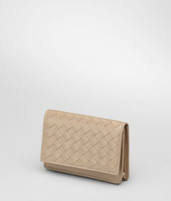 Bottega Veneta Walnut Intrecciato Vn Card Case - Lyst