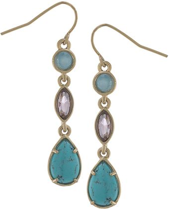 Carolee California Girl Linear Gemstone Drop Earrings - Lyst