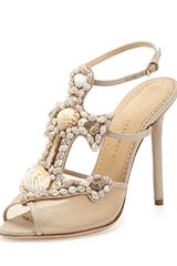 Charlotte Olympia Shore Thing Canvas Anchor Sandal Natural - Lyst