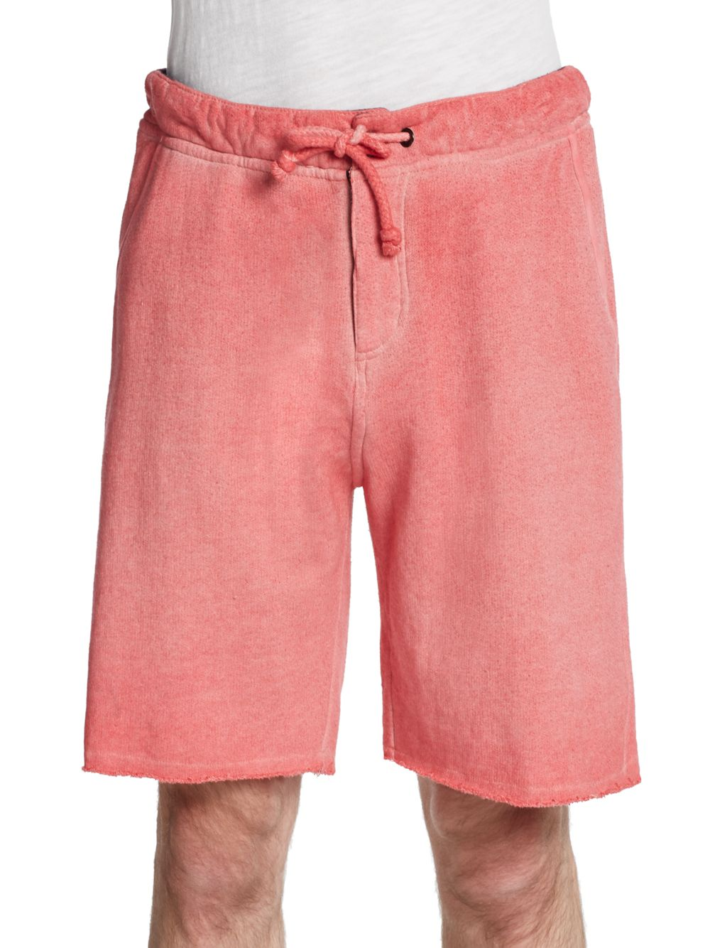 746722c8c Cohesive & Co. Faded Cotton Sweat Shorts in Pink for Men - Lyst