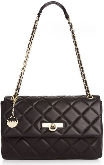 DKNY Quilted Nappa Adjustable Chain Shoulder Bag - Lyst