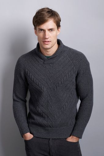 Graham & Spencer Jeremy Wool Cashmere Shawl Collar Sweater - Lyst