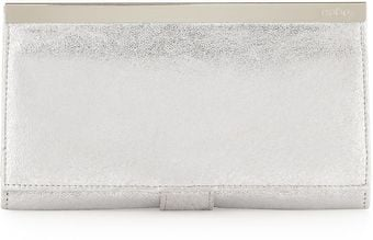 Hobo Maxine Metallic Clutch Wallet Silver - Lyst