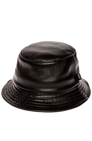 Lyst - Huf The Leather Bucket Hat in Black for Men 8a64a685d65