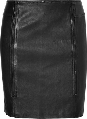 Jitrois Leather Cinta Skirt - Lyst