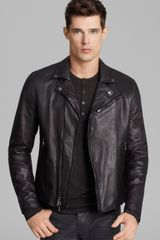 John Varvatos Luxe Leather Moto Jacket - Lyst