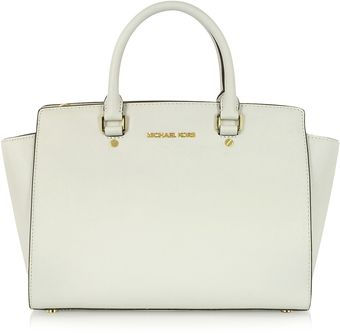 Michael Kors Large Selma Saffiano Top Zip Satchel - Lyst