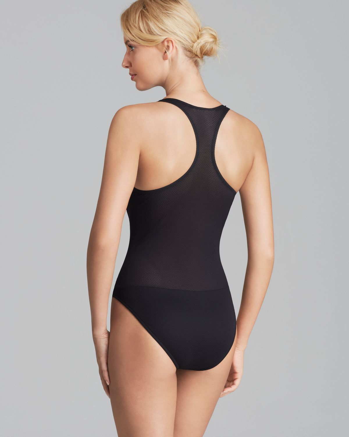99b8614842 MILLY Mesh Martinique One Piece Swimsuit in Black - Lyst