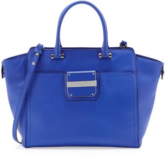 Milly Colby Leather Tote Bag Blue - Lyst