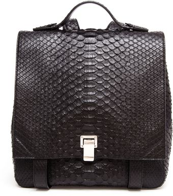 Proenza Schouler Ps Large Python Backpack - Lyst